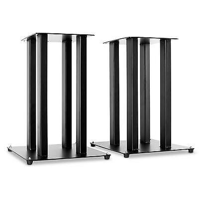 Support 2X Pied Enceinte Audio Hifi Bibliotheque Solide Metal Trepied Stand Noir