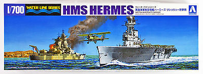 Aoshima Waterline 51023 British Aircraft Carrier HMS Hermes Richelie 1/700 scale