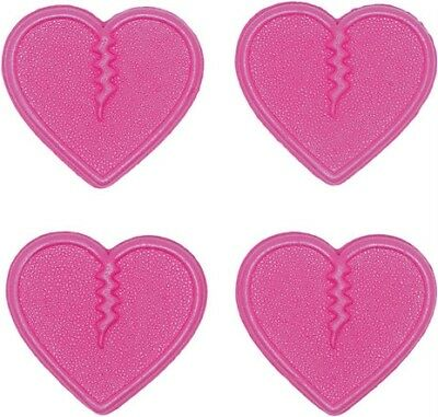 Crab Grab Mini Hearts Traction Pink 4 pack