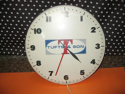Vintage 1960s 12 inch tufts advertising  Pam style  Clock  veterinary