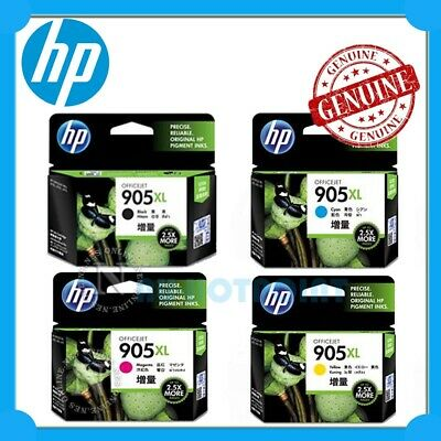 HP Genuine #905XL BK/C/M/Y (x4) High Yield Ink Set for Officejet 6950/6960/6970