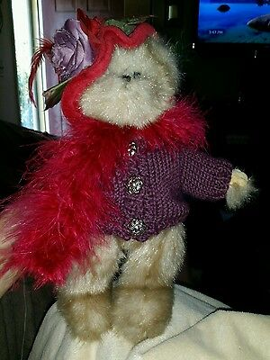 The Bearington Collection Red Hat Society DUCHESS of PLUME EUC