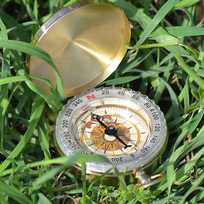 Engraved Pocket Watch Coordinate Compass Orienteering Birthday Personalised Gift