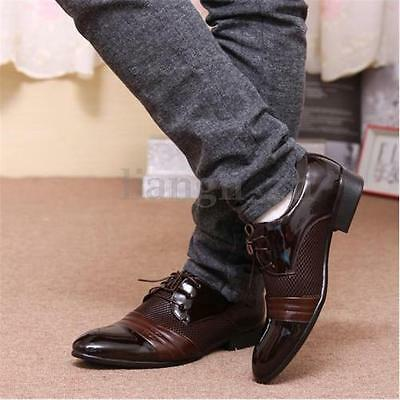 2018 Men's Dress Formal Oxfords Leather Shoes Business Casual Pointed Toe Shoes