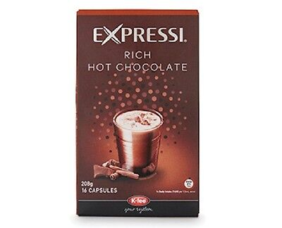 HOT CHOCOLATE 16 Expressi Capsules for Automatic Espresso Coffee Machines ALDI