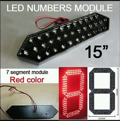 """15"""" LED 7 Segment Number Module -Red"""