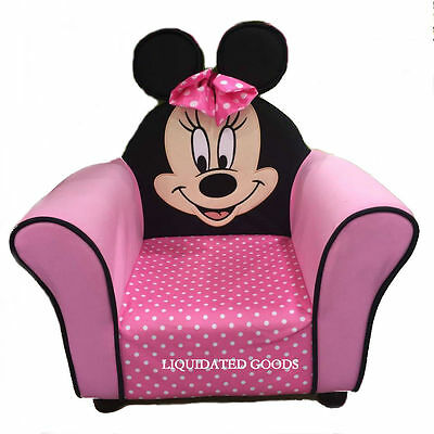 Disney Minnie Mouse Upholstered Chair Sofa Pink Toddler Kids Furniture Mickey BN