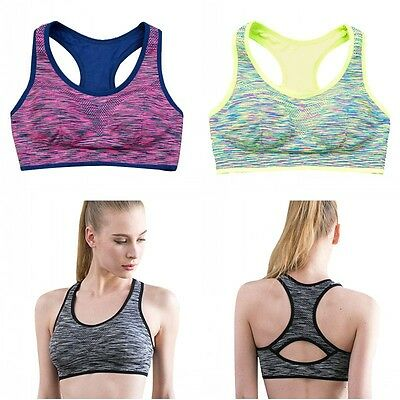 Women Seamless Fitness Yoga Sports Bra Stretch Tank Tops sujetador deportivo