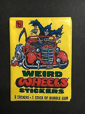 Weird Wheels Trading Card Full Pack By Topps