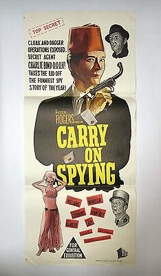 "Australian Daybill Movie Poster ""carry On Spying"""