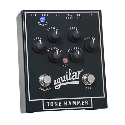 AGUILAR Tone Hammer Bass Preamp Direct Box Effects Pedal DEMO