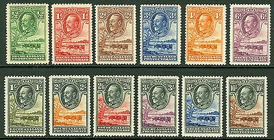 SG 99-110 Bechuanaland 1932 set of 12 values to 10/-. Fine fresh mounted mint..