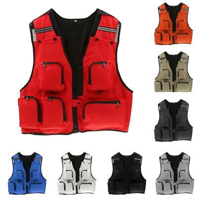 Mens Multi Pocket Hunting Shooting Fly Fishing Mesh Vest Photography Waistcoat
