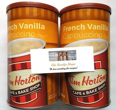 Tim Hortons Cafe & Bake Shop- Instant Cappuccino French Vanilla (2-Pack) 16 oz