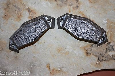 """(10) Vintage-Look Sunflower Drawer Pull, 3"""", Small Pull, Cast Iron Pulls, Hw-12"""
