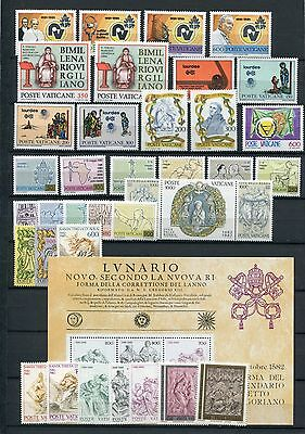 VATICAN CITY 1981-82 MNH COMPLETE 37 Stamps + SHEET