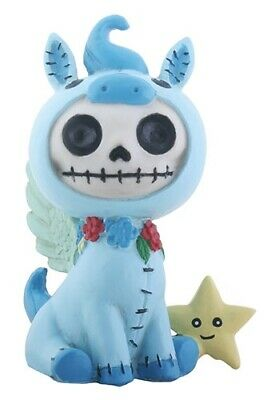 FurryBones Pegs Figurine Pegasus Blue Cute Skull Skeleton Different Gift Fun Alt