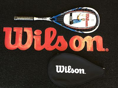 Wilson Py Pro Squash Racket Rrp £59.99 With Cover Free Post Uk.