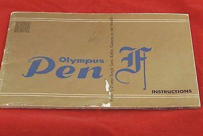 OLYMPUS PEN F Instructions Manual Gold cover 32 pages B&W