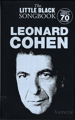 Leonard Cohen The Little Black Songbook Guitar Chord & Lyrics Music Song Book