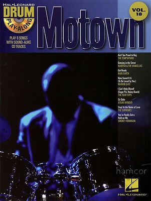 Motown Drum Play-Along Volume 18 Percussion Sheet Music Book with Playalong CD