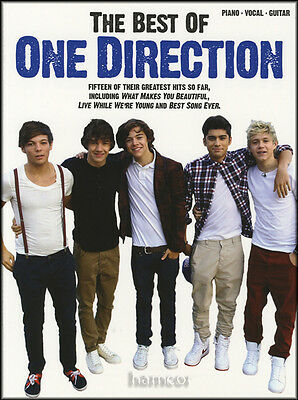 The Best of One Direction Piano Vocal Guitar Sheet Music Book 1D
