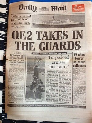 NEWSPAPER - DAILY MAIL - THE FALKLANDS WAR - May 4 1982