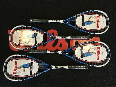 4x wilson py pro squash rackets rrp 239.96 with covers free post uk.