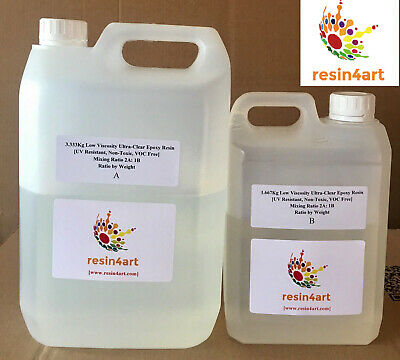 5kg Ultra-Clear Low Viscosity Epoxy Resin for Artists [RESIN4ART]