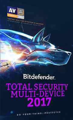 BitDefender Total Security Multi Device 2017 for 5 Devices 1 Year ESD Licence