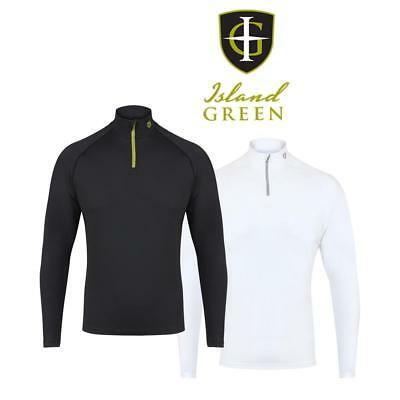 Island Green Base Layer ,1/4 Zip, Turtle Neck, White or Black,  Keep Warm!