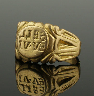 Stunning Large Ancient Roman Military Gold Ring - Circa 2Nd C Ad