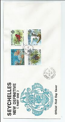 Seychelles First Day Cover New Def (Part One) 1977 Sg 409A 412A 413A414A Stamps