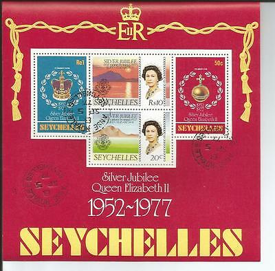 SEYCHELLES 1977 Silver Jubilee Mini Sheet Stamps SG MS401.