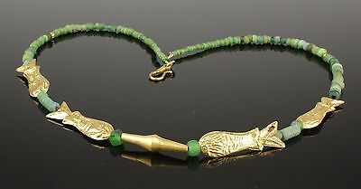Stunning Ancient Roman Gold Necklace With Fish - Circa 1St-5Th Century Ad