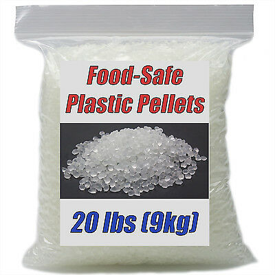 Food-Safe Clear Plastic Pellets 20 lbs. For Stuffing Cornhole Bean Bags LDPE