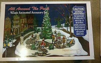 All Around The Park Dept 56 Animated Christmas Village