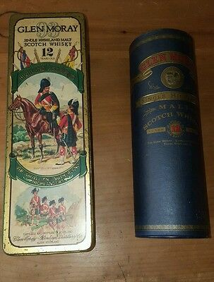 2x Vintage Glen Moray Collectable Whisky Tins