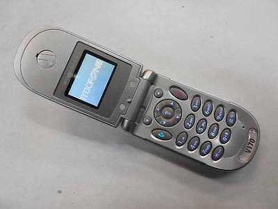 MOTOROLA V170 COLOR Dualband GSM Messaging Flip TRACFONE Cell Phone GOOD  USED!!!
