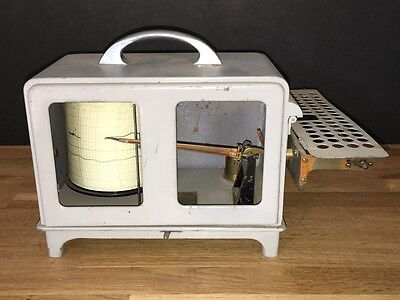 Vintage Jp Friez & Sons Humidity Hygrograph + Coa!