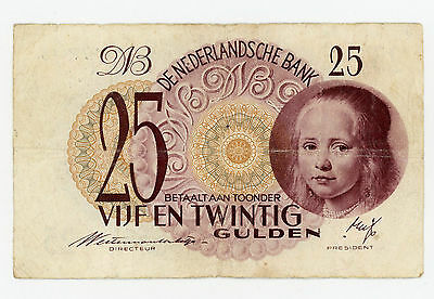 Netherlands … P-77 … 25 Gulden … 1945 … *F*