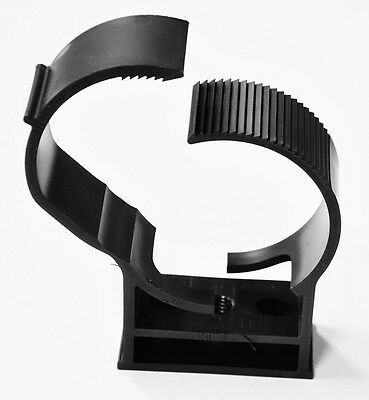 Black Pipe Hanger for 3 inch pipe, conduit or cable.