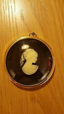 Pony Tailed Girl in Cameo from the miiature world of Peter Bates