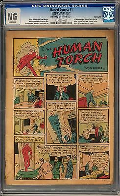 Marvel Comics #1 CGC (C-OW) 1st Issue 1st Human Torch Extremely Rare