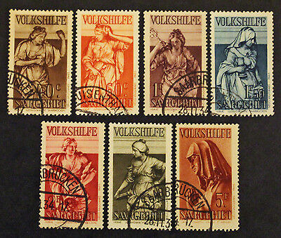 Timbre SARRE ALLEMAGNE/SARRE GERMANY Stamp-Yvert & Tellier n°165 à 171 Obl(Col7)