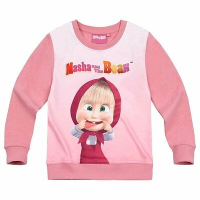 Girls Official Licensed Masha And The Bear Sweatshirt Hoodie Top • EUR 13,68
