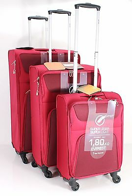 Light Weight 4 Wheel Spinner Suitcase Set 3 Luggage Cabin Carry Case Trolley BL