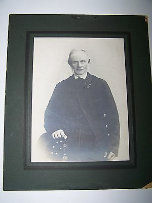 Vintage or antique photo, man with very creepy eyes. Fabulus weird photo.