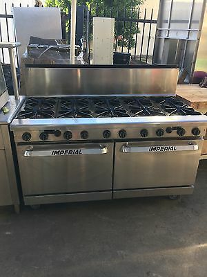 Imperial 10 Burner Stove With Double Oven Horno Estufa Gas Residential Range