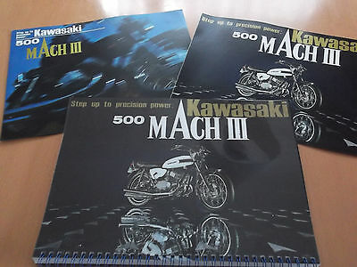 Kawasaki H1 Mach III 500cc 1969 Parts Manual & Sales Brochures.